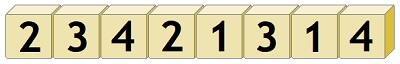14 кубиков - 23421314