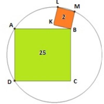 2 квадрата и окружность