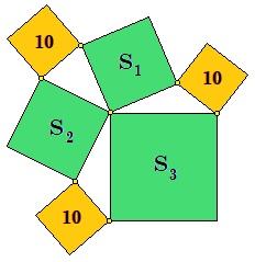 Две тройки квадратов