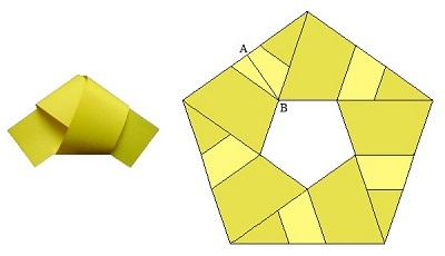 Пятиугольник из бумажной полосы