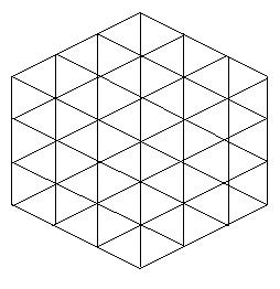 Шестиугольник и 54 треугольника