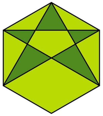 Звезда в шестиугольнике