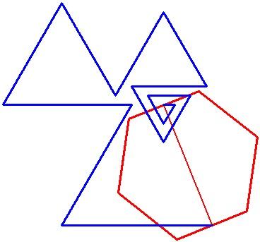Шестиугольник и ломанная - 2