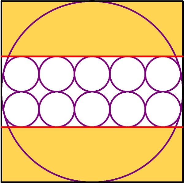 10 кругов и ещё один в квадрате