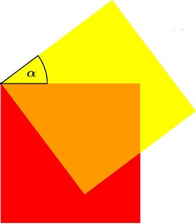 Два квадрата, три цвета