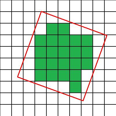 Квадрат на тетрадке в клеточку