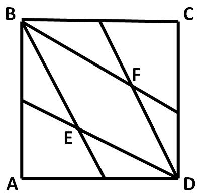 Ромб в квадрате