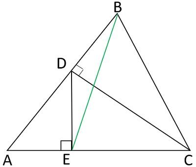 Два перпендикуляра в треугольнике