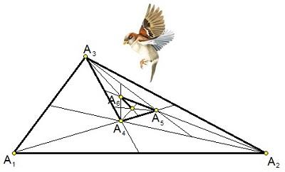 Треугольник и воробей